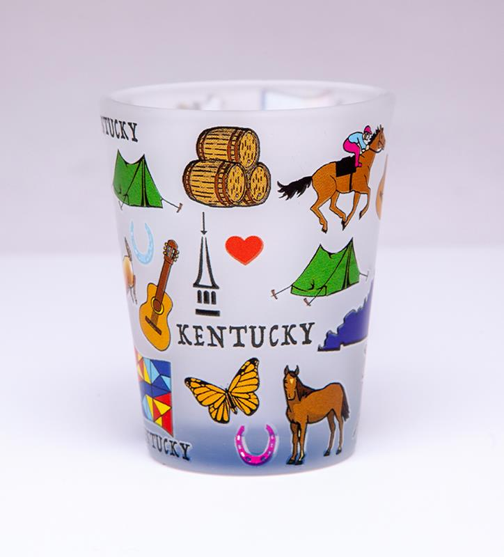 Kentucky Icons Frost Shot Glass,10197