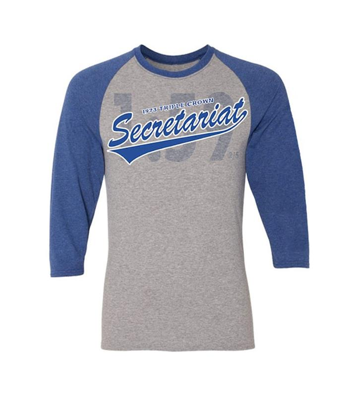 Secretariat Baseball Tee Gray/,BASEBALL TEE