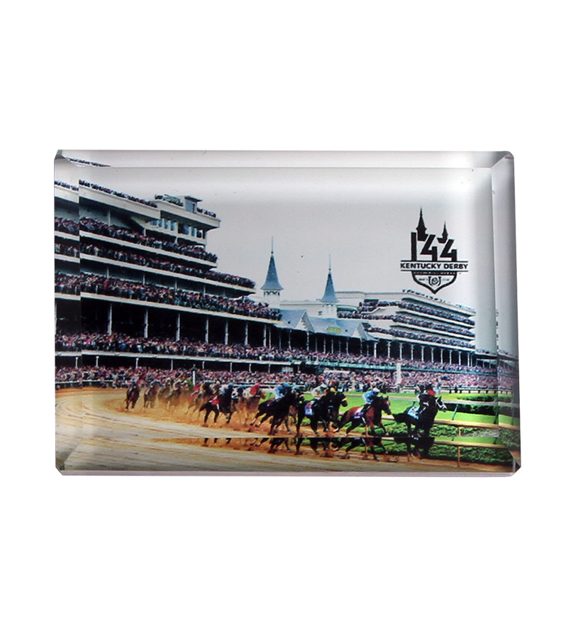 Churchill Downs First Turn Beveled Magnet,382A2006