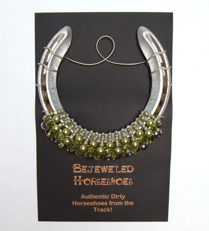 Celadon Pearl Bejeweled Horseshoe,Bejeweld Horseshoes,CELADON PEARL HS