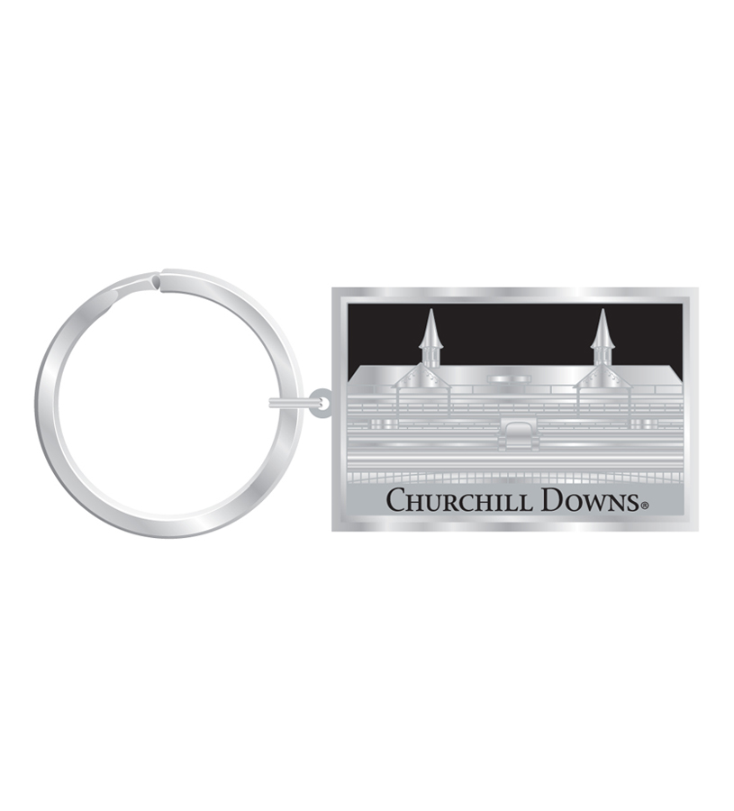 Churchill Downs Silver Vision Keychain,R3837316 SILVER