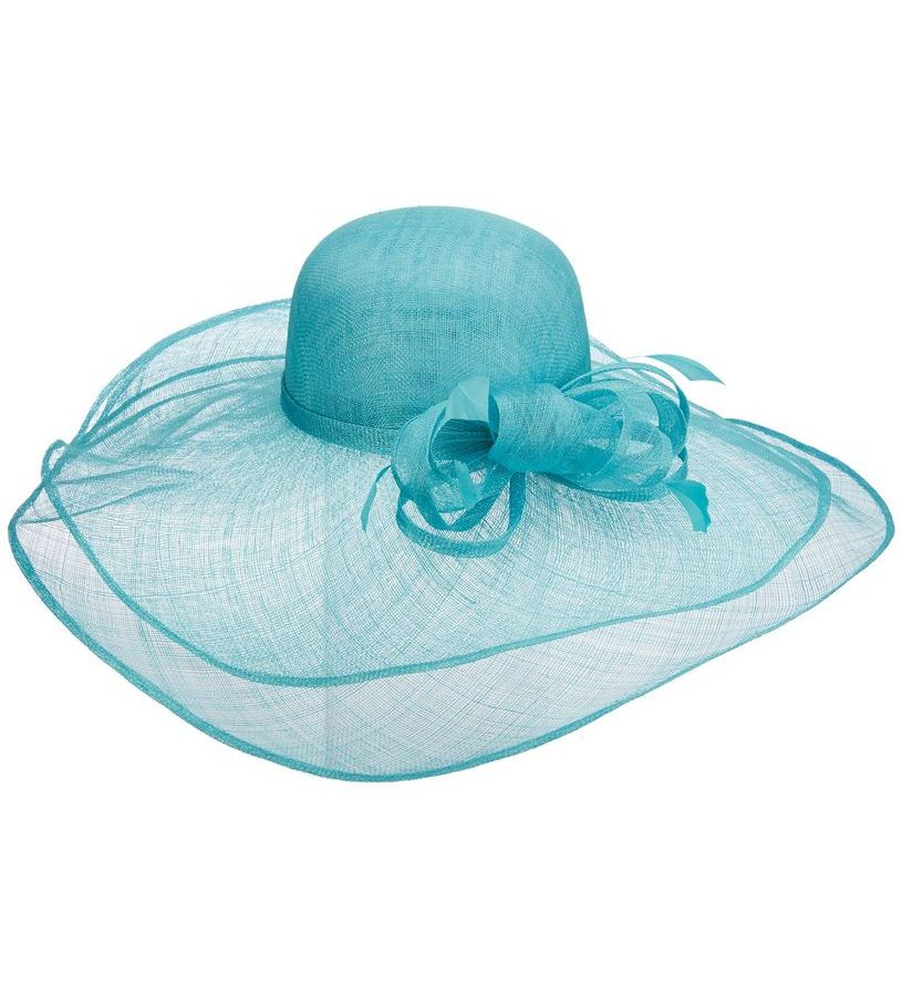 The Lipizzan Sinamay Hat,LD87-ASST TURQUOISE