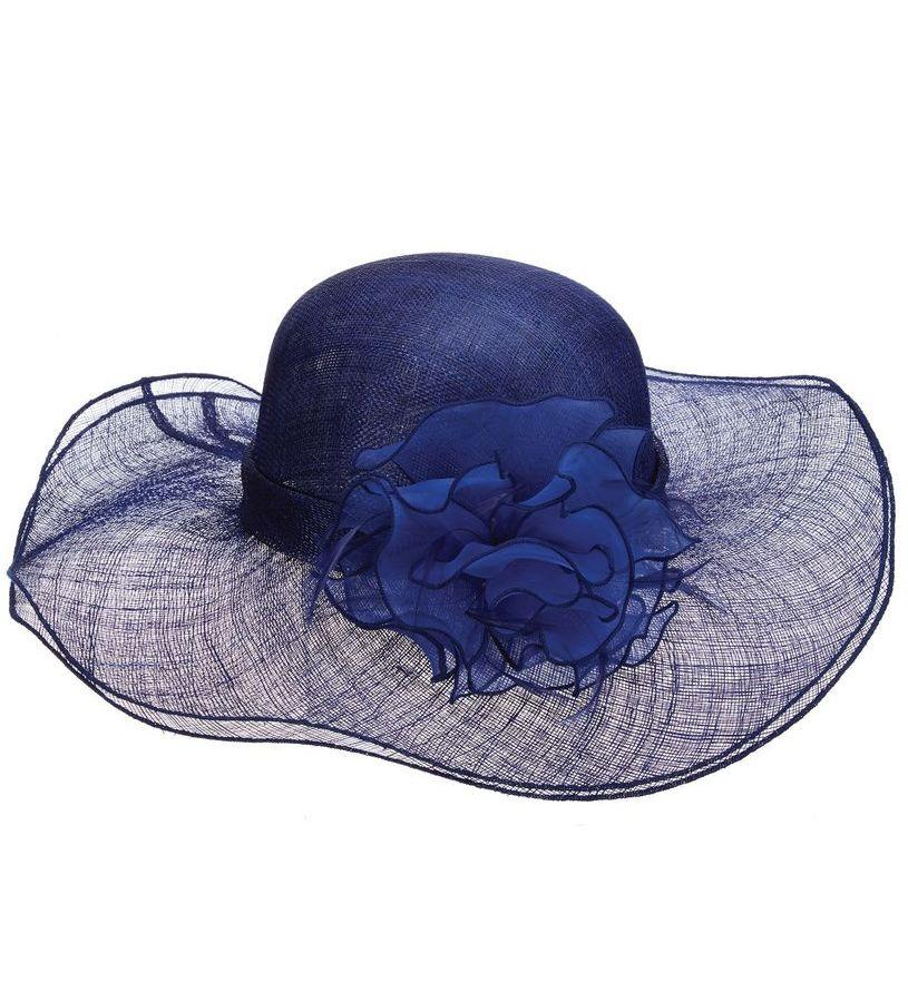 The Falabella Sinamay Hat,LD92-COBALT