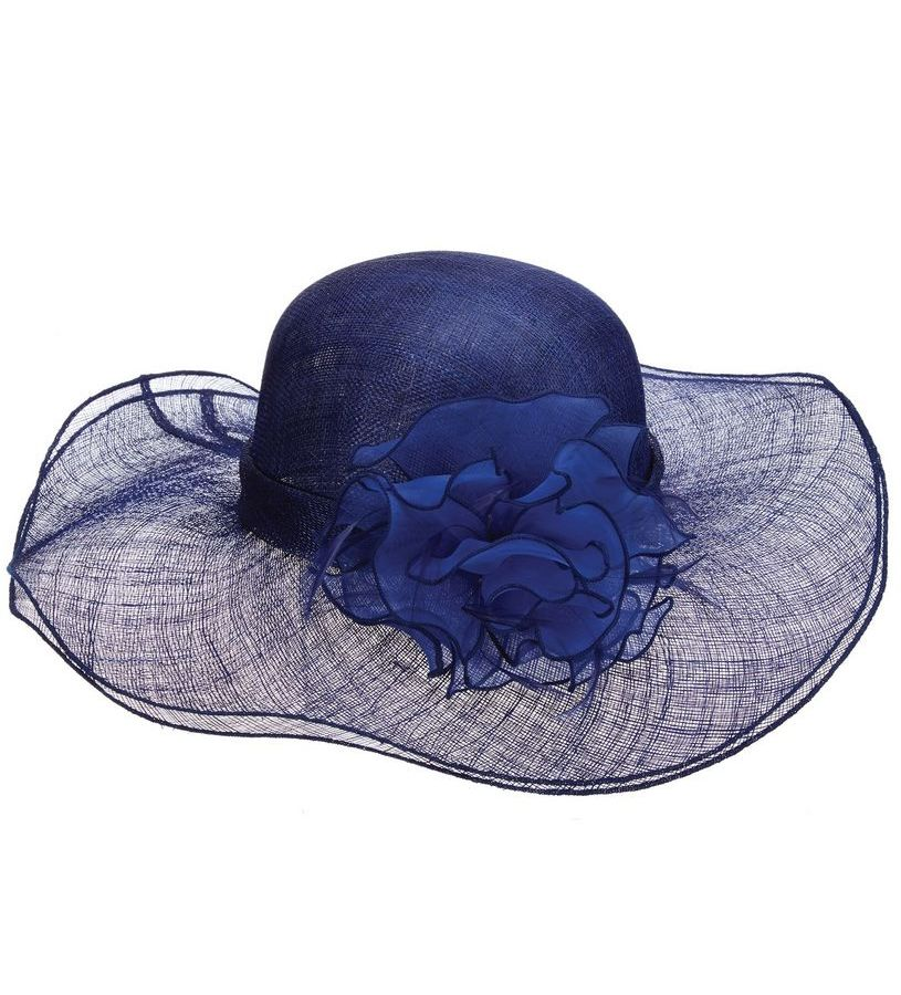 The Falabella Sinamay Hat,LD92-COBALT