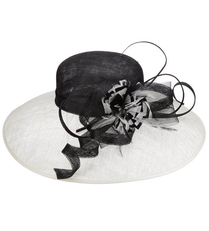 The Scarlett Sinamay Hat,LD94-ASST BLK/WH