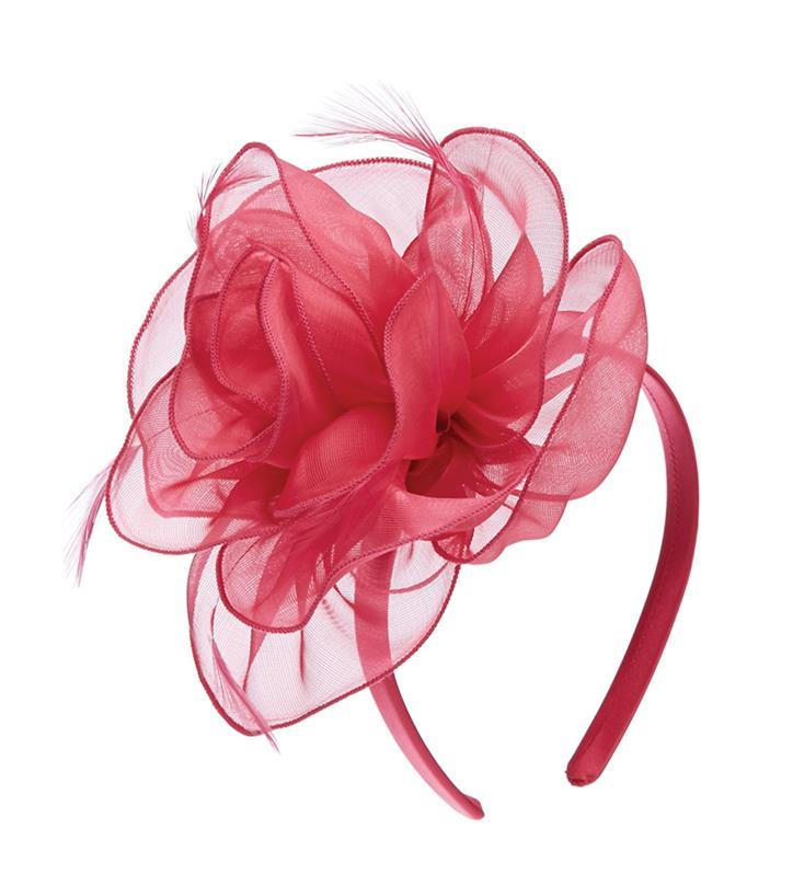 The Rosa Fascinator,LDF63-FUCHSIA