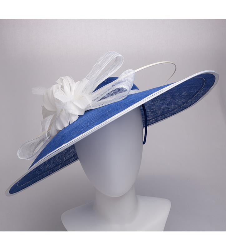 The Sinamay Saucer Hatinator,KD96DERBYF-COBALT