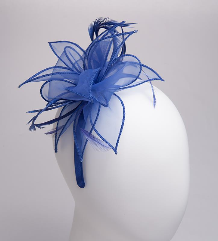 The Organza Starburst Fascinator,KD111DERBYF-COBALT