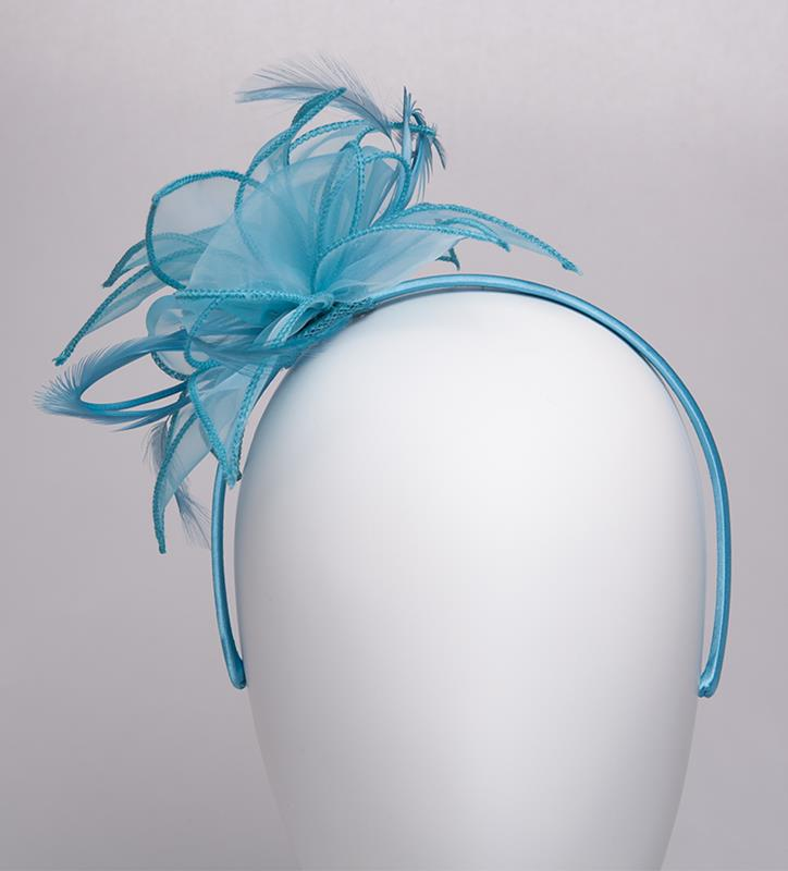 The Organza Starburst Fascinator,KD111DERBYF-TURQUOIS