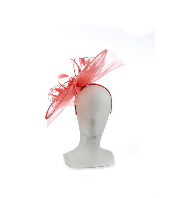 The Polyanna Fascinator,KD112DERBYF-CORAL