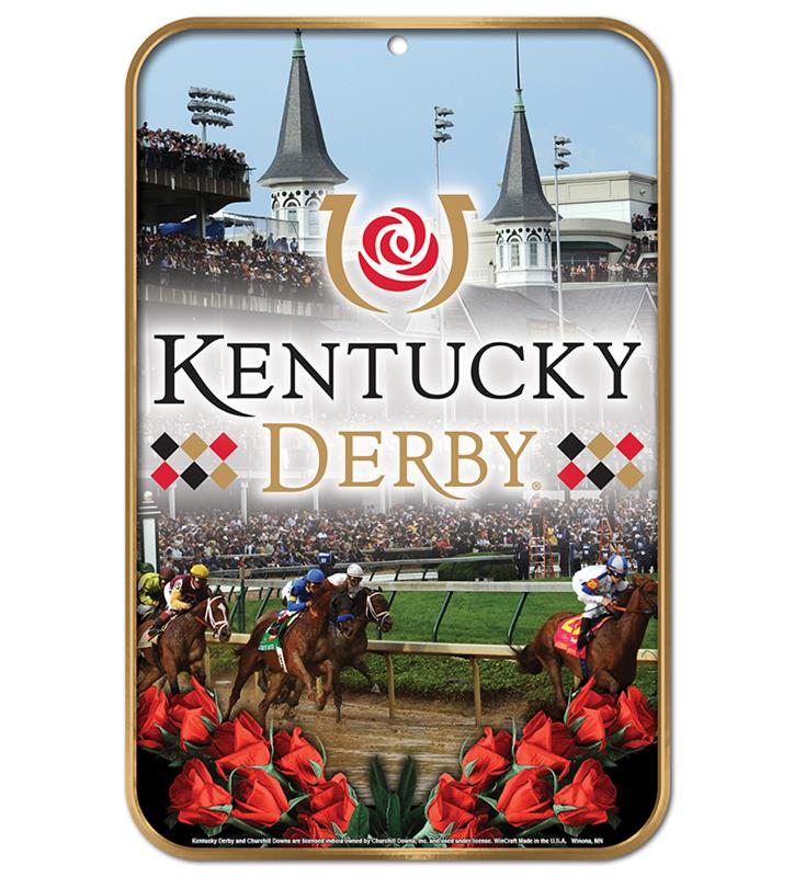 Kentucky Derby Decorative Plastic Sign,23114317 11 X 17