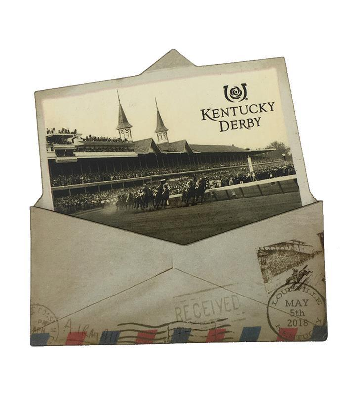 Kentucky Derby Vintage Envelope Magnet,YU49018KENTD