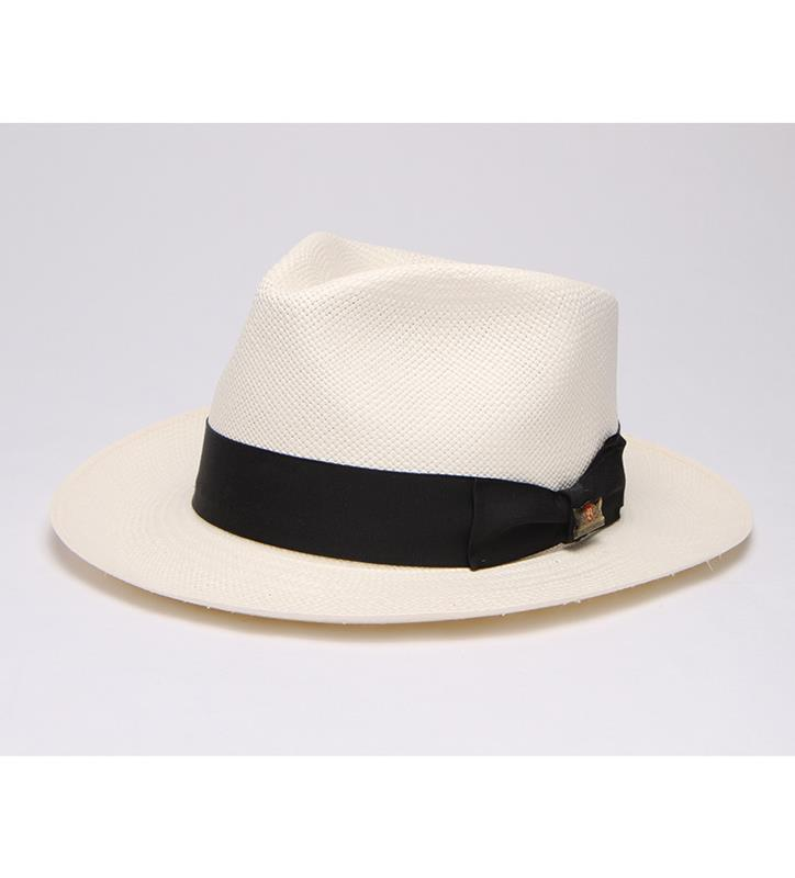 """Fresh and Classy"" Straw Fedora,BS 5947FNC-NATURAL"