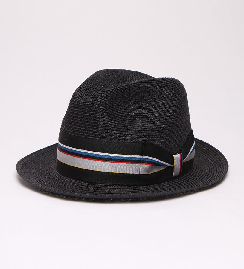 """Black Jacket"" Straw Fedora,BS 5747BKJA-BLACK"