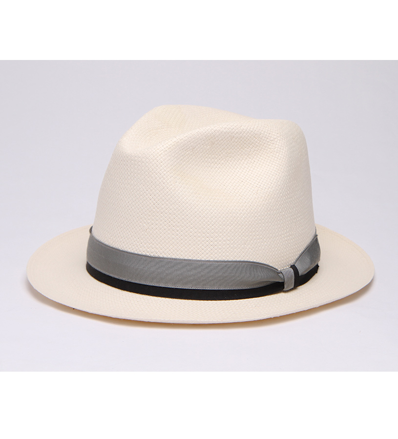 """Simply Elegant"" Straw Fedora,BS 2S47SEL-BLEACH/GR"