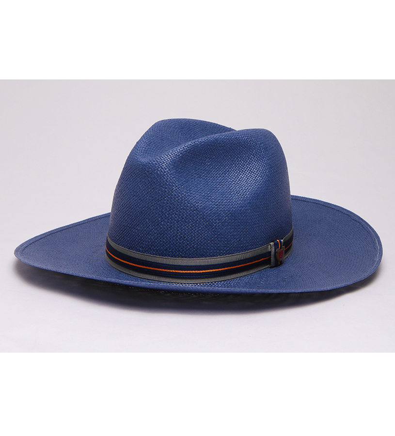 """Spring is in the Air"" Big Brim Straw Fedora,BS 8849SINA-BLUE"