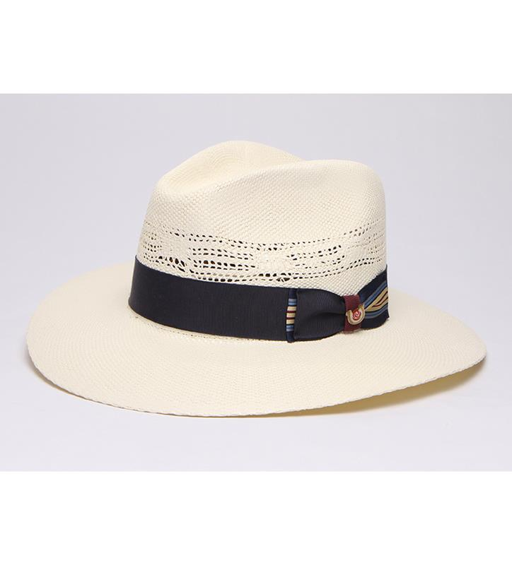 """Big Brim Coolness"" Vented Straw Fedora,BS 1049BBC-IVORY"