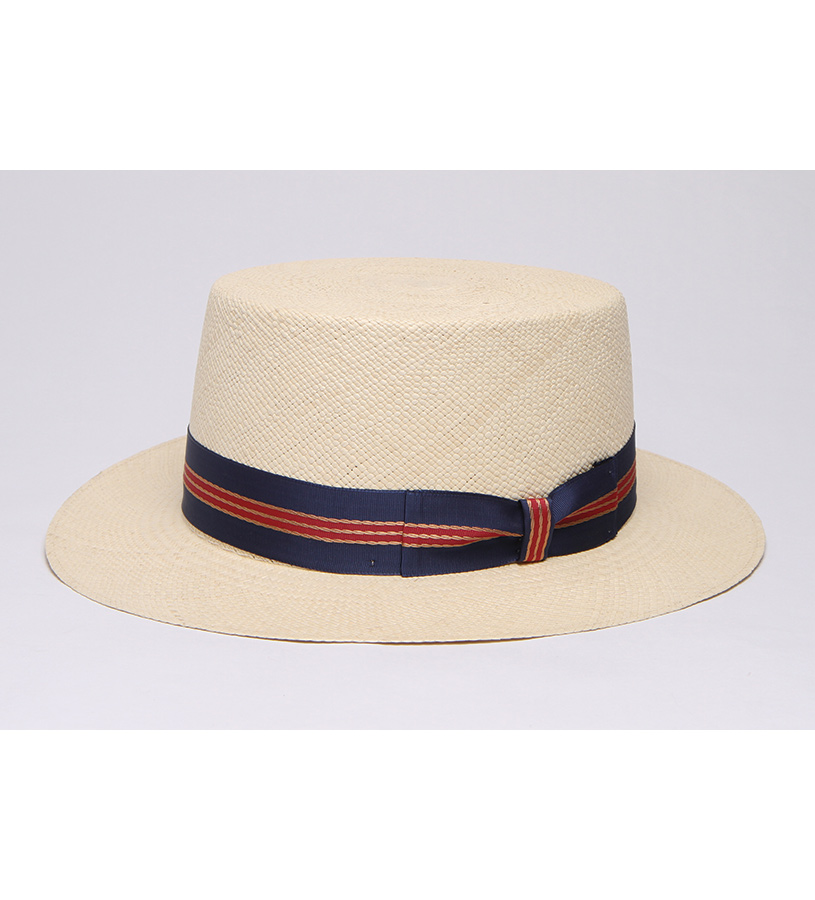 """Gondelier"" Straw Boater,BS5973GNDKD-NATURAL"