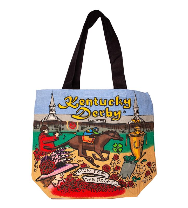 Kentucky Derby Shopper Tote Bag,CUSTOM SHOPPER KD