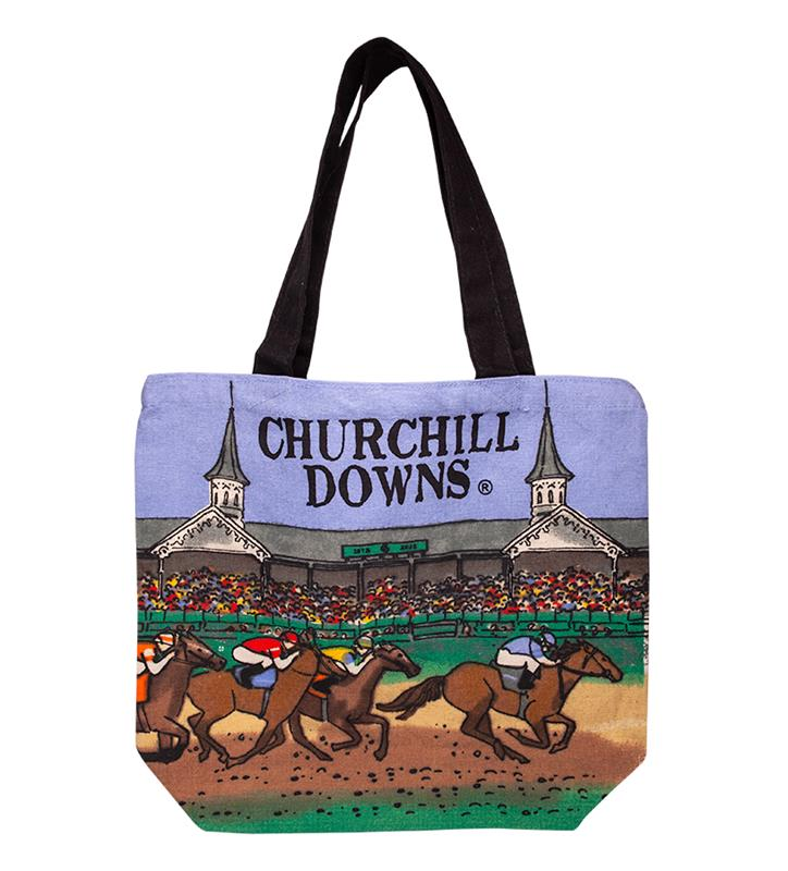 Churchill Downs Shopper Tote Bag,CUSTOM SHOPPER CD