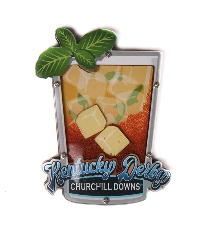 Kentucky Derby Sandy Mint Julep Magnet,Chocolate & Mint,MSC19-29787