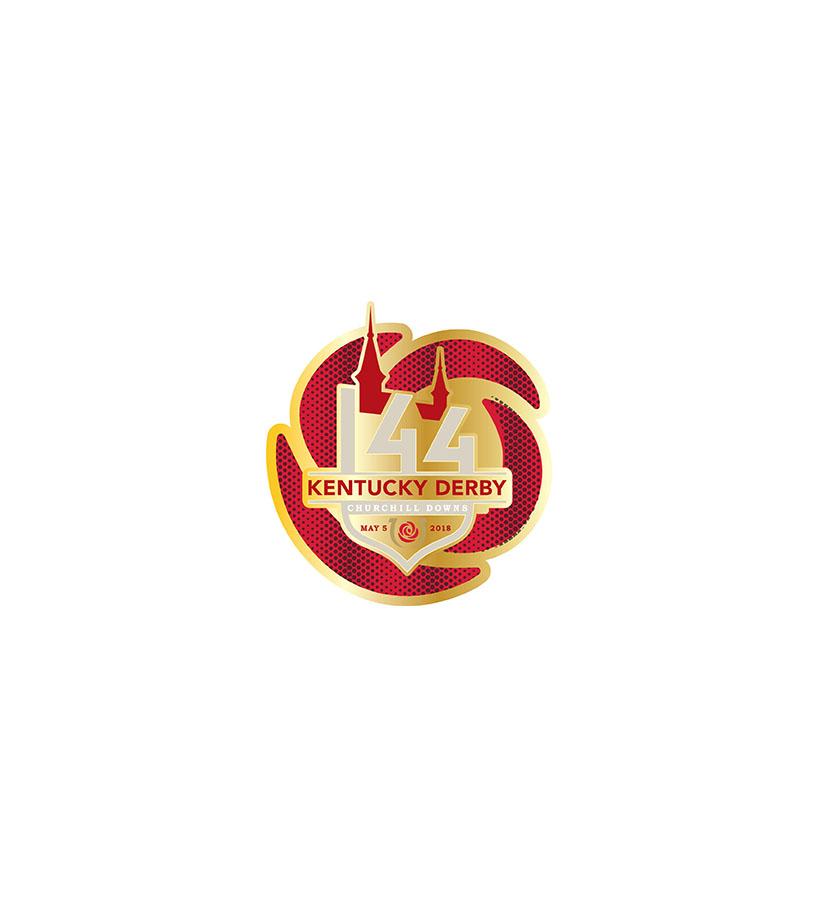 Kentucky Derby 144 Glitter Rose Lapel Pin Derbymuseumstore