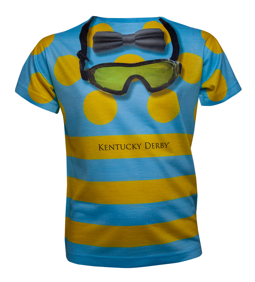 Kentucky Derby Sublimated Jockey Tee,D040 JOCKEY SUBLIMAT