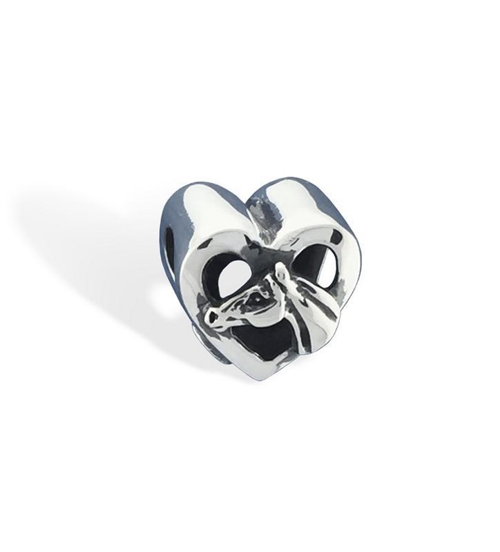 478-17 HorseHead in Heart Slide Charm,Darren K. Moore,478-17 CHARM