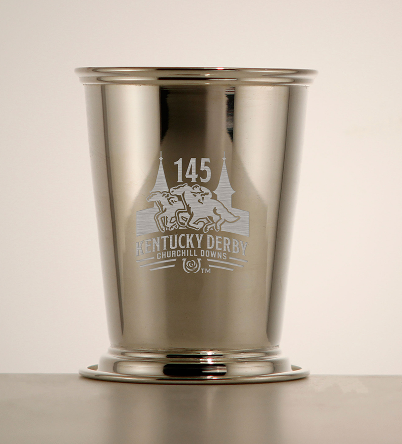 Kentucky Derby 145 Etched Julep Cup,58-010 LT ETCH 8 OZ