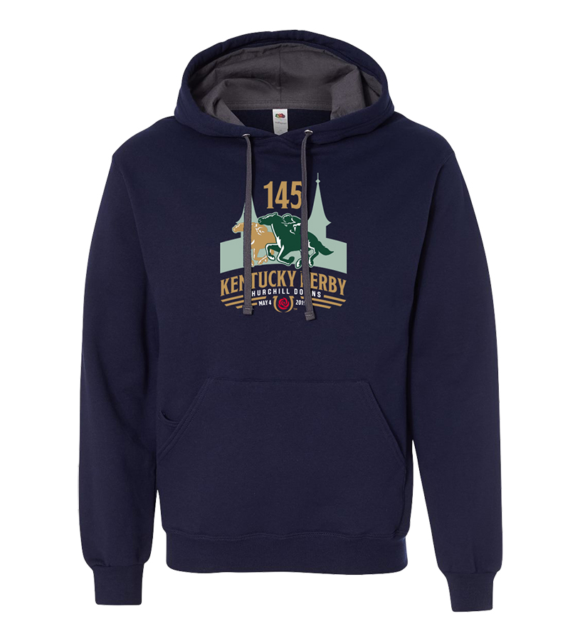 Kentucky Derby 145 Logo Hoodie,9KSHN NAVY