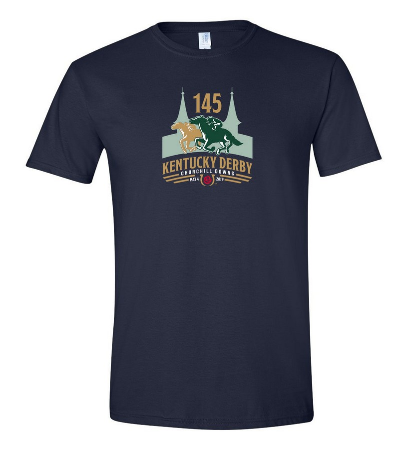 Kentucky Derby 145 Official Logo Tee,9KTN NAVY