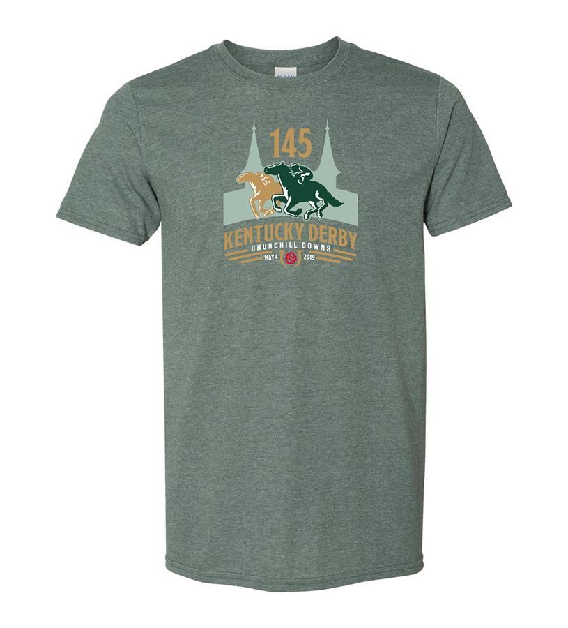 Kentucky Derby 145 Official Logo Tee,9KTFG HEATHER FOREST