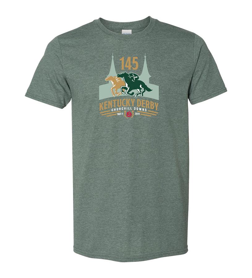 Kentucky Derby 145 Official Logo Tee,9KTFG HEATHER FOREST