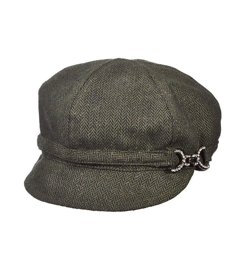 Ladies' Bridle Buckle Cadet Cap,LW622-ASST