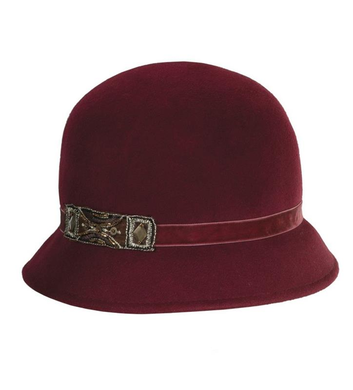 Ladies' Felt Art Deco Cloche,LF160-ASST