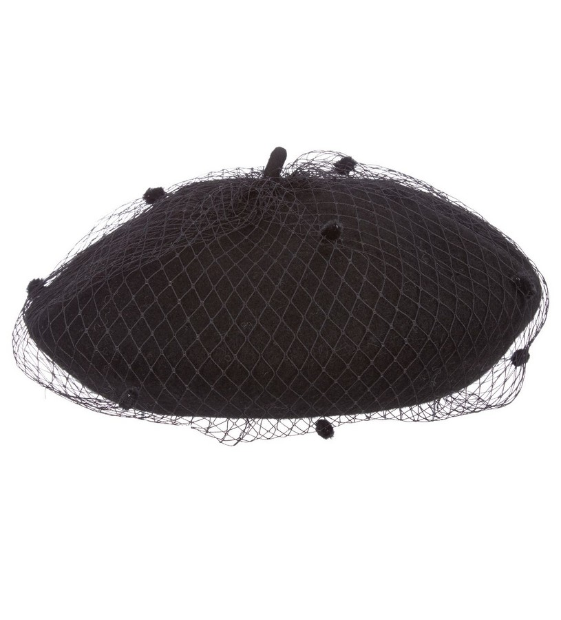 Ladies' Wool Netting Beret,LV420-ASST