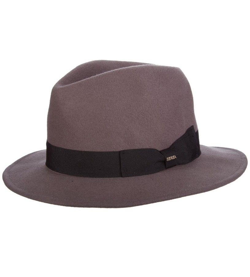 Men's Featherweight Crushable Fedora,DF179-GRAY