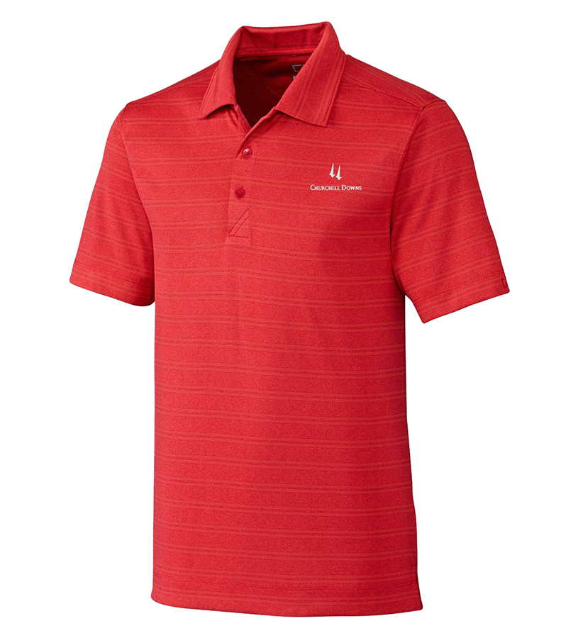 Churchill Downs Logo Interbay Polo,MCK09263-CARDINAL HE