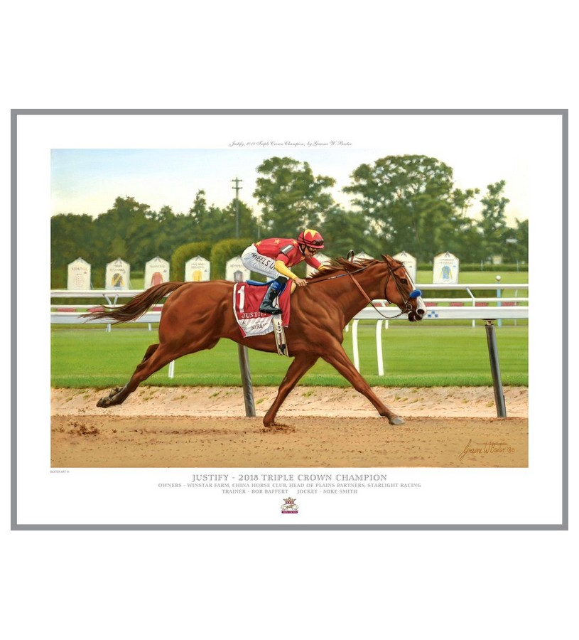 "Justify Official Edition Print,102W 16X20"" OPEN"