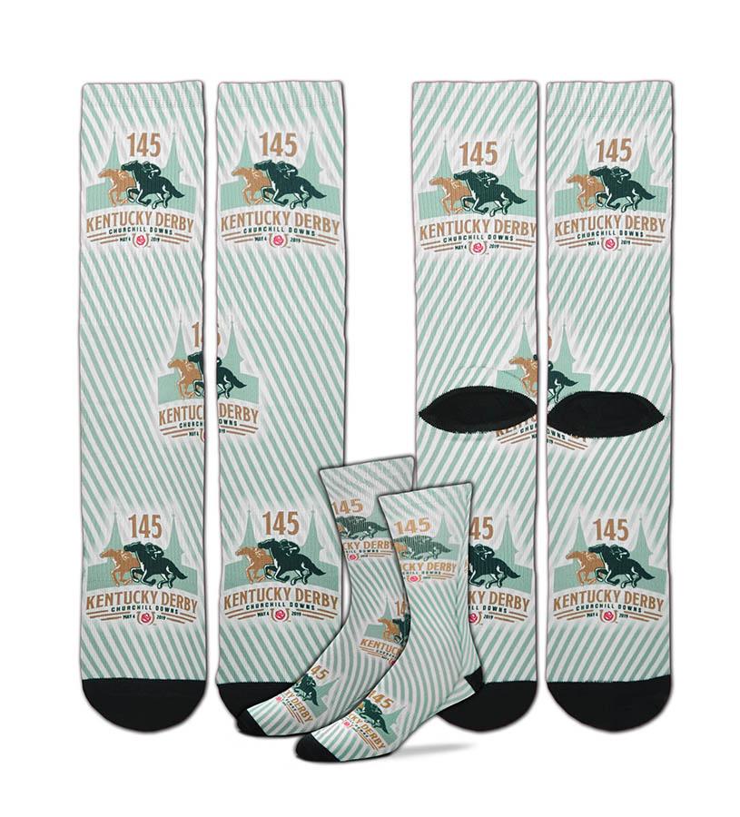 Kentucky Derby 145 Seersucker Socks,308S CREW SEERSUCKER