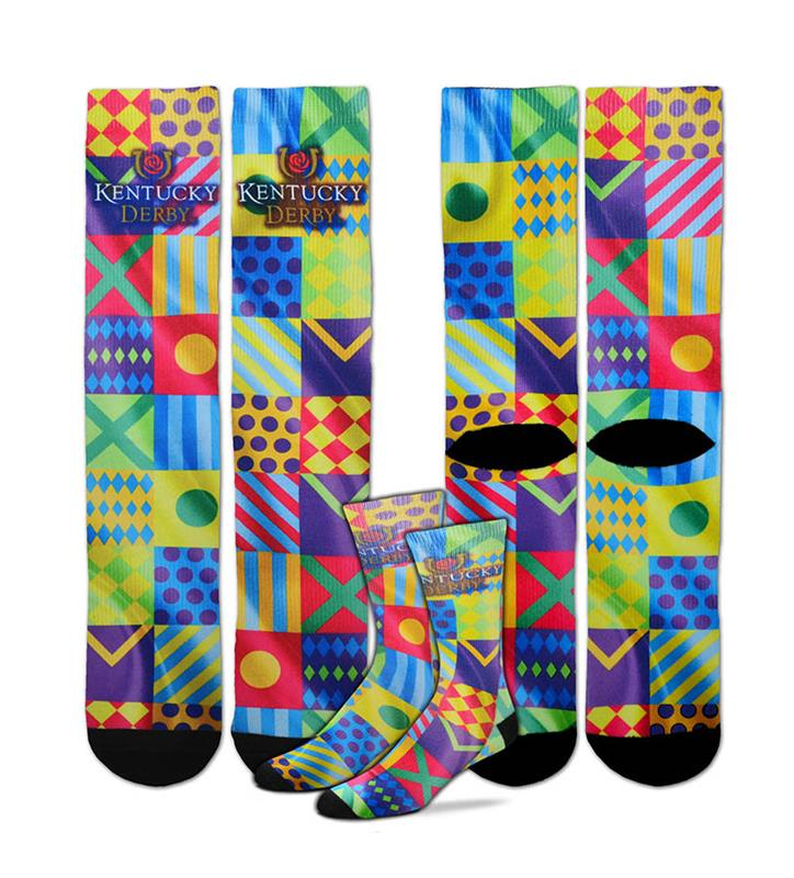Kentucky Derby Icon Sublimated Silks Socks,308S SUB SILKS