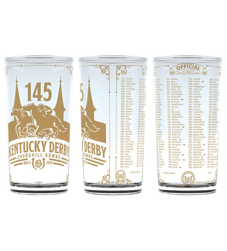 2019 Official Derby Gold Glass,CV19 KD 145 GOLD