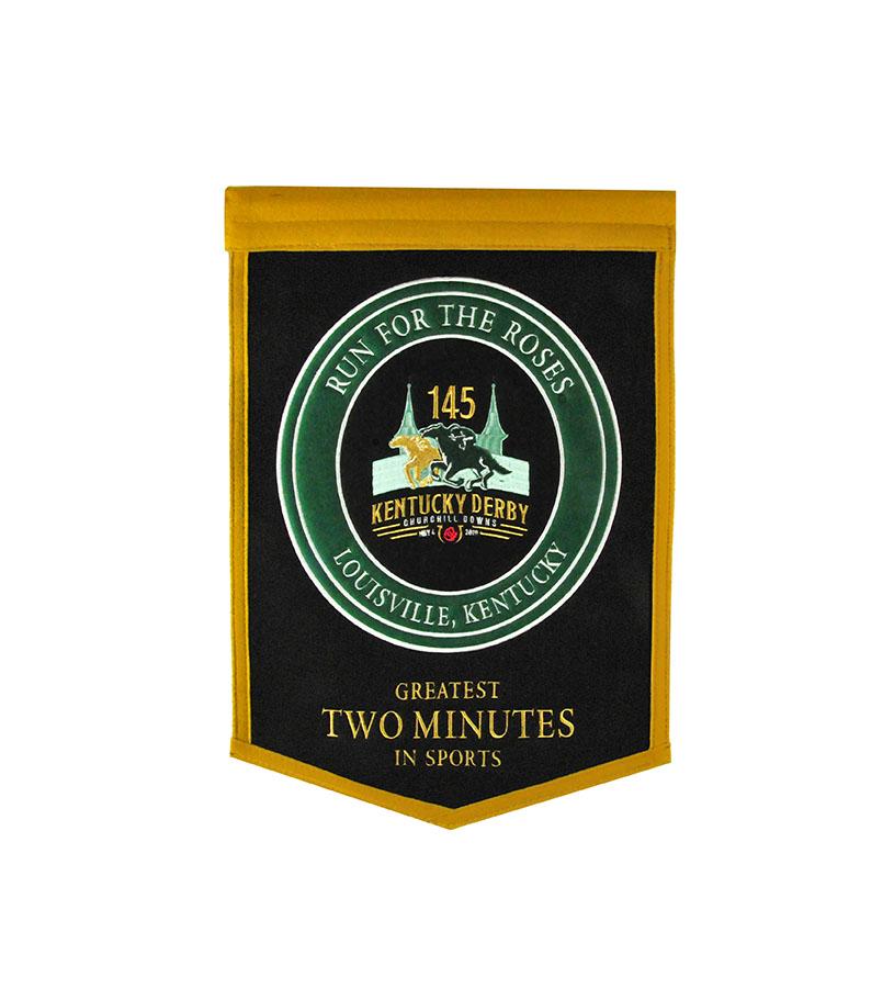 Kentucky Derby 145 Felt Banner,79069 KD 145 BANNER
