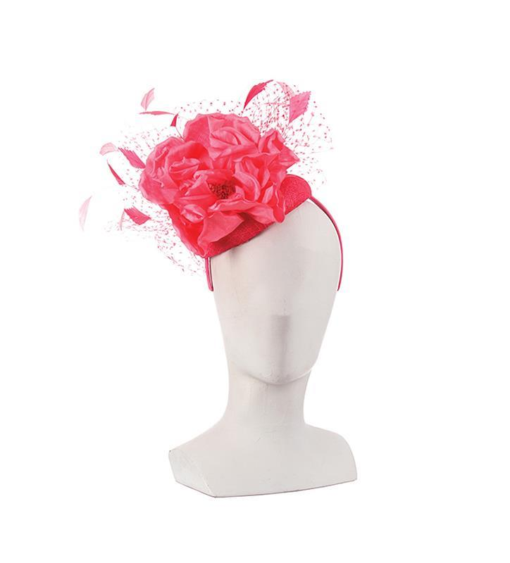 The Rachel Alexandria Fascinator,KDL6-FUCHSIA