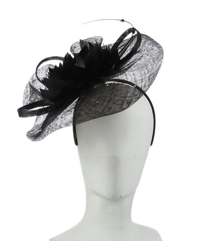 The Priscilla Fascinator,LDF69-BLACK