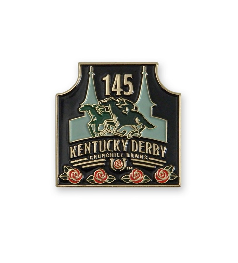 Kentucky Derby 145 Enamel Lapel Pin,KLP1901 LAPEL PIN