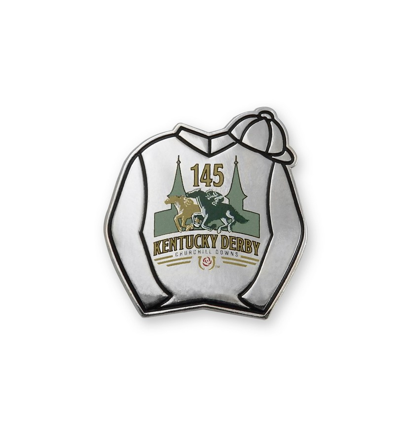 Kentucky Derby 145 Silks Lapel Pin,KLP1902 LAPEL PIN