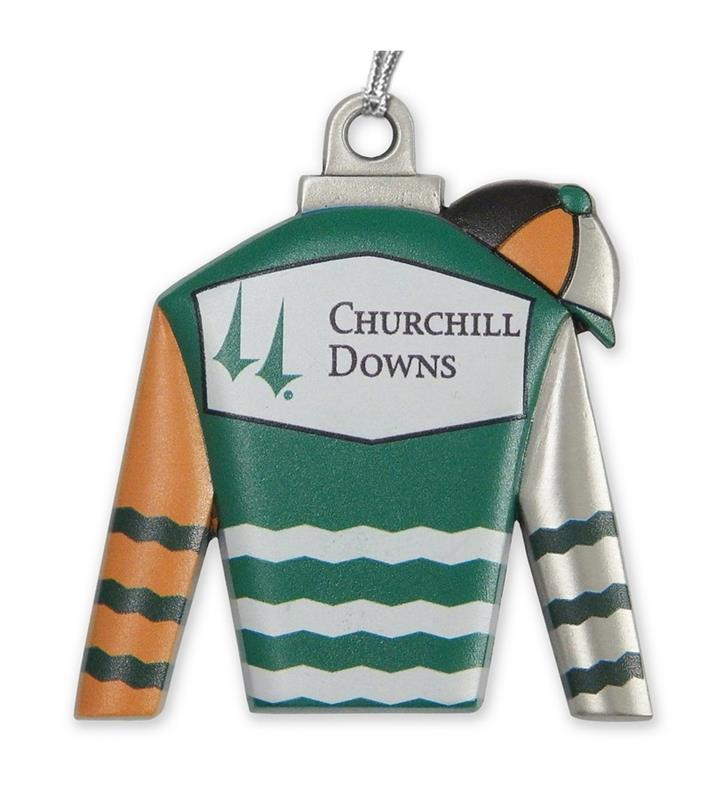 Churchill Downs Silks Ornament,KORS202 SILKS ORN