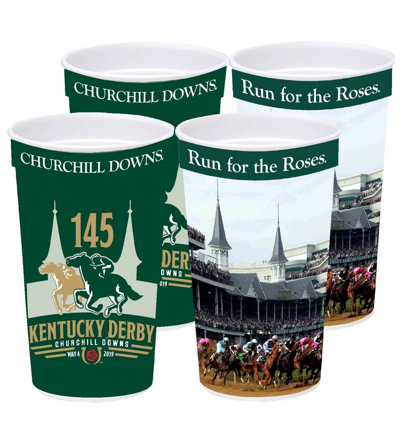 Kentucky Derby 145 Souvenir Cups,#45422 22 OZ 4PK