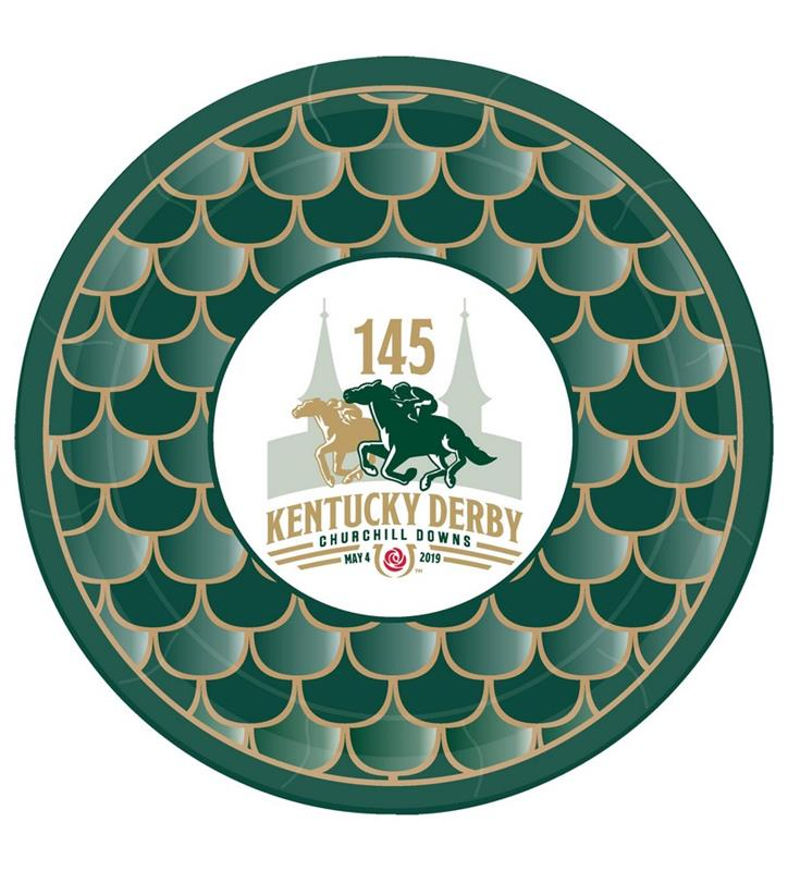 "Kentucky Derby 145 Luncheon Plates,#45479 9"" 8PK"